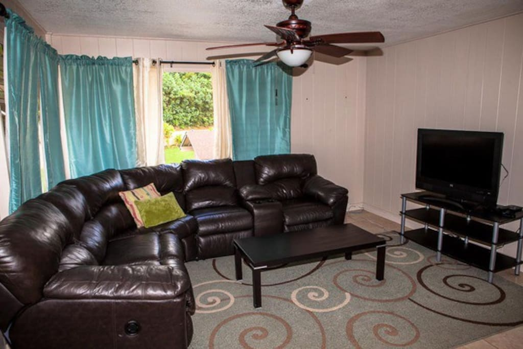 Large Sectional Sofa for family to gather.
