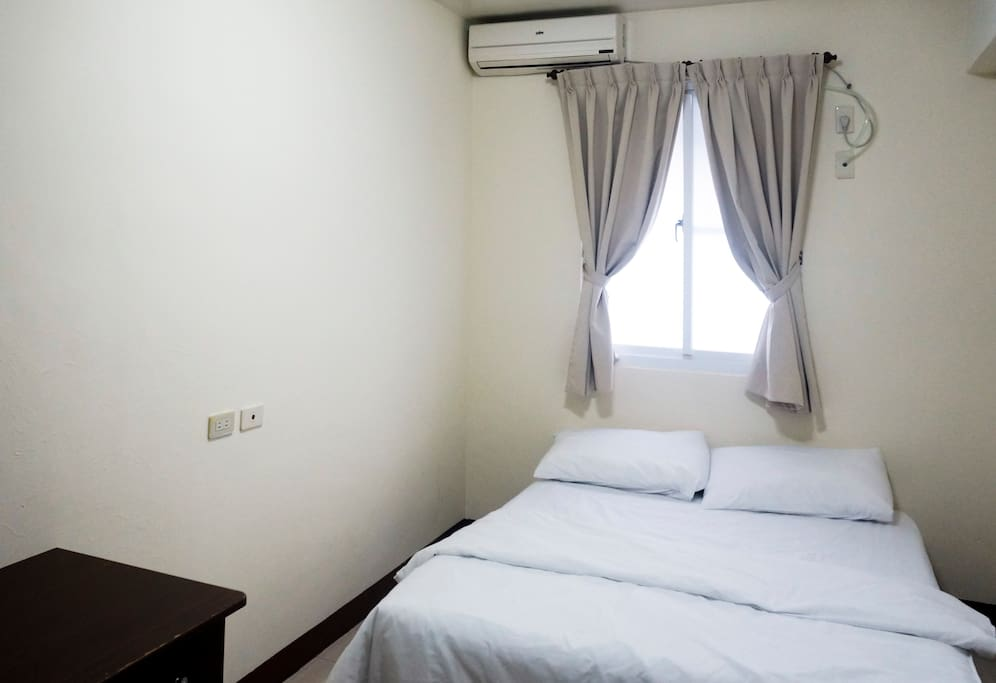 Your comfortable and clean double bed.