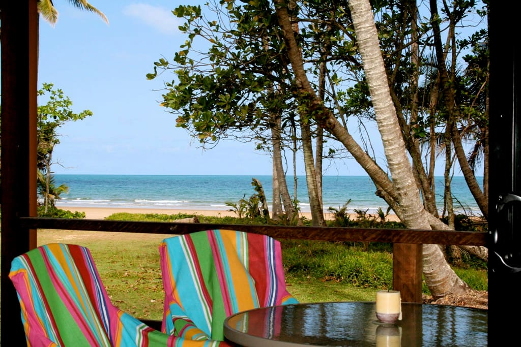 Dunk Island Holidays: Bella Coola Cottages On The Absolute Beachfront.