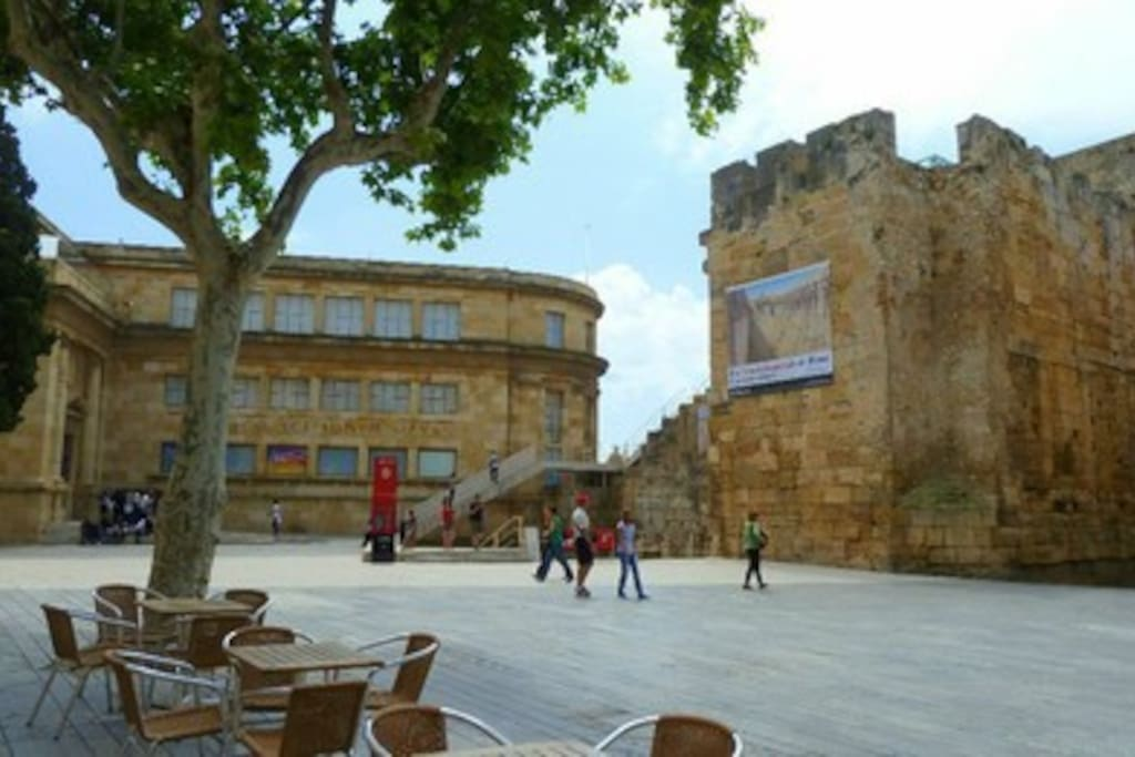 Plaça del Rei. Part Alta