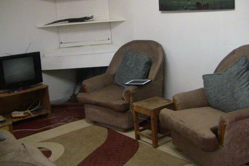 Living space with TV and Internet