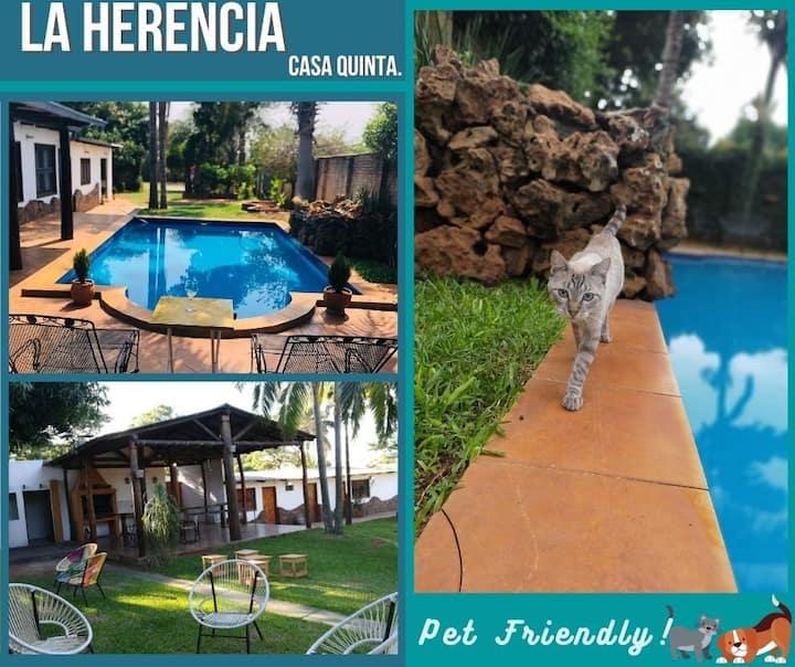 Naturaleza, paz y relax en La Herencia Casa Quinta