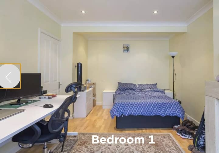 Very large and clean bedroom with Sky tv