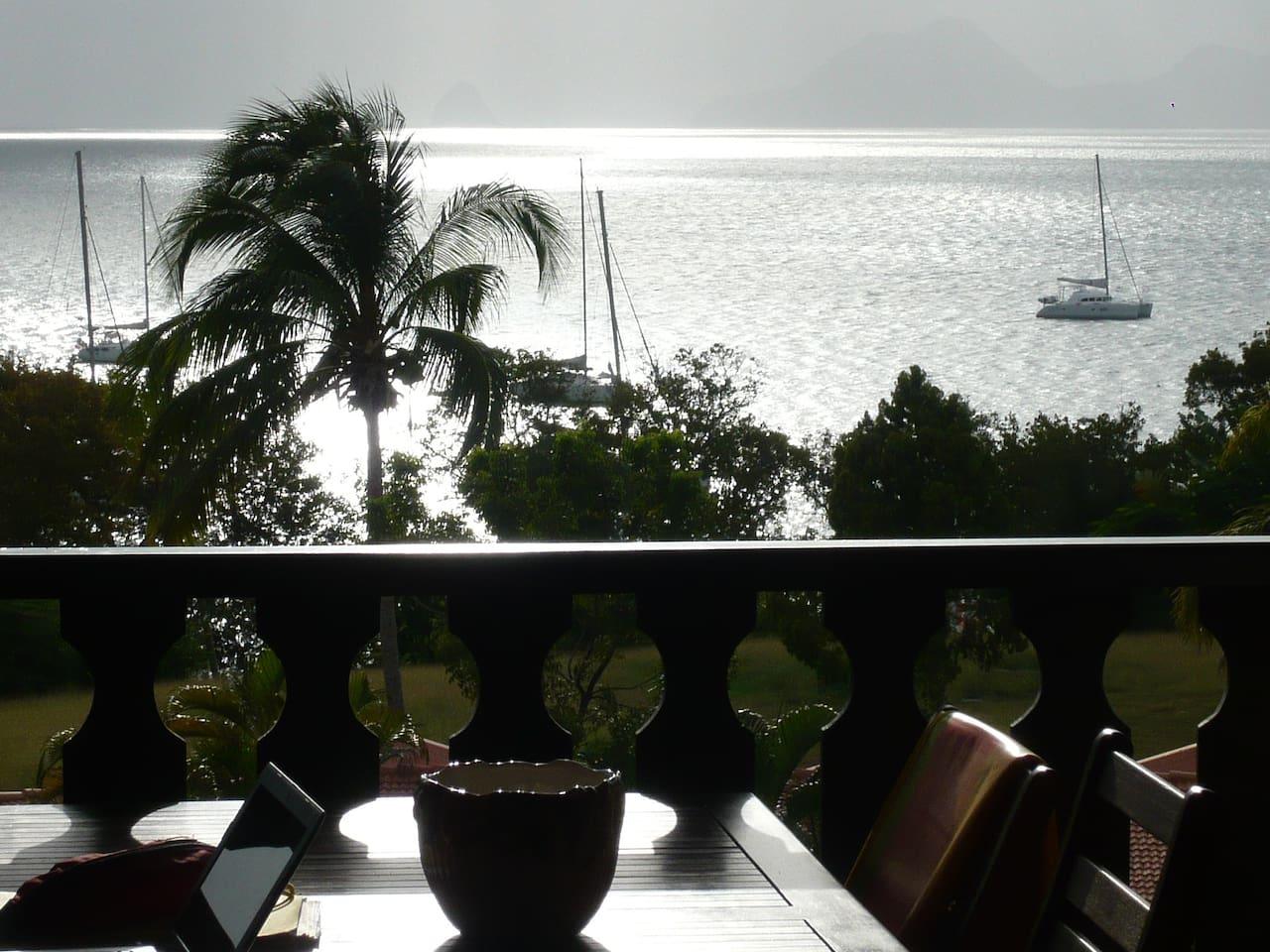 vue mer panoramique de la terrasse.