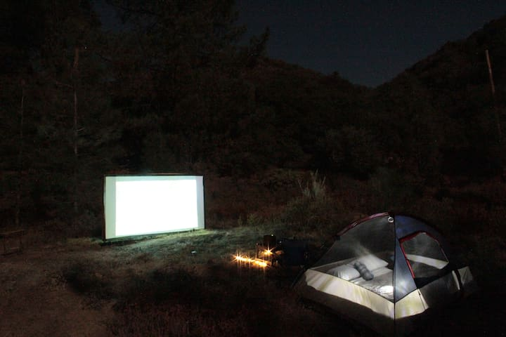 Private outdoor theater date night
