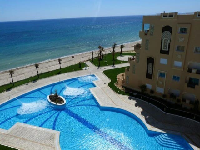 Apt zee upfront privéstrand FOLLA - Sousse - Appartement