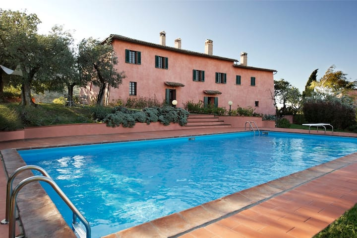 Elegant former convent with guest house and pool