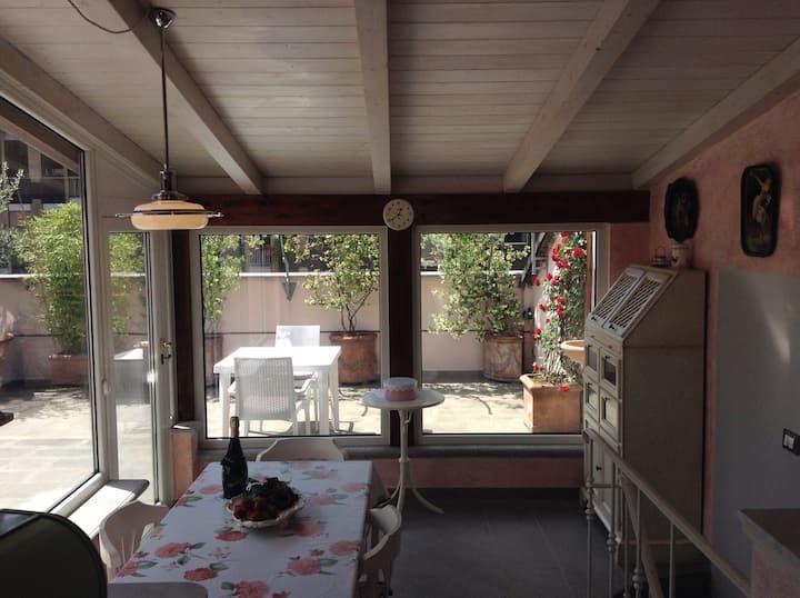 Elegant Flat with Garden Terrace.