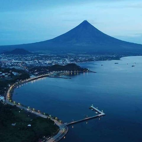 A view of Mayon from another part of the city. Indeed a view to behold. CTTO