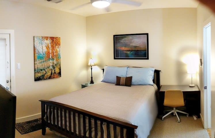 Privacy! Bedroom, bath, private entrance. No fees.