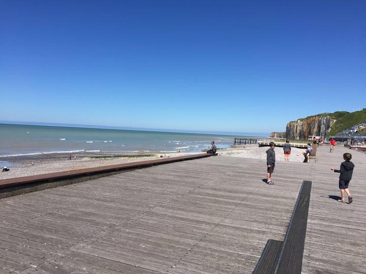 Veules - Apt proche centre et mer