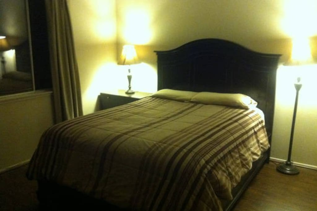 Now Completed! Newly remodeled room with new luxury plush bed, new furniture & new wood flooring