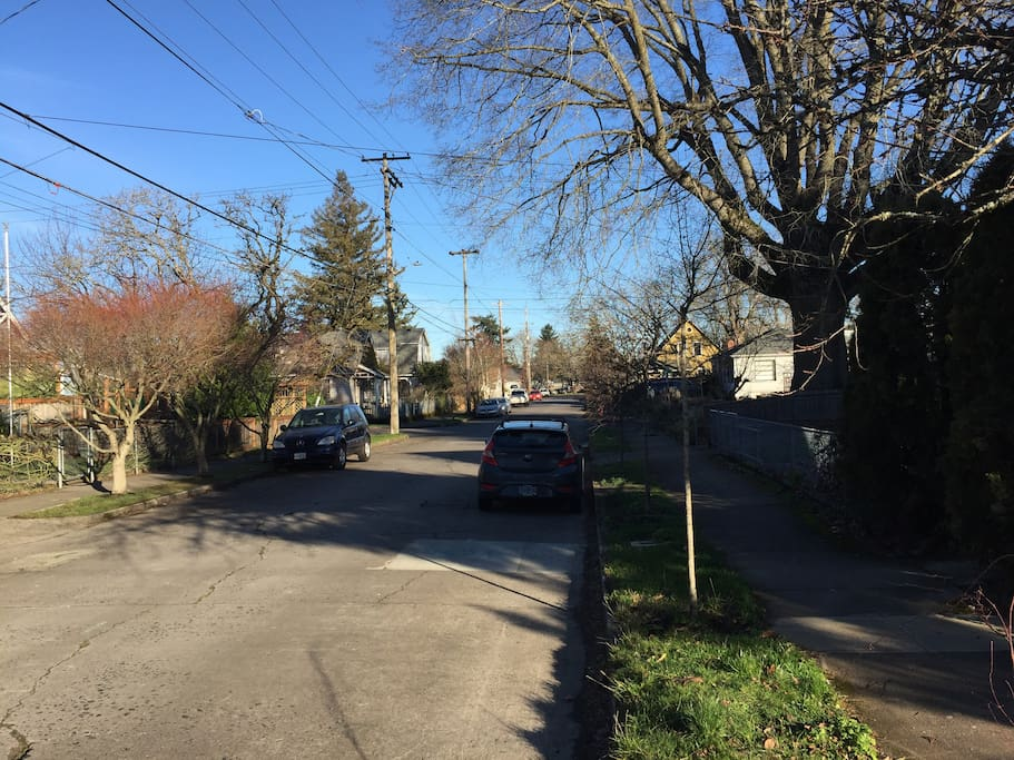 plenty of street parking in our safe and quiet neighborhood