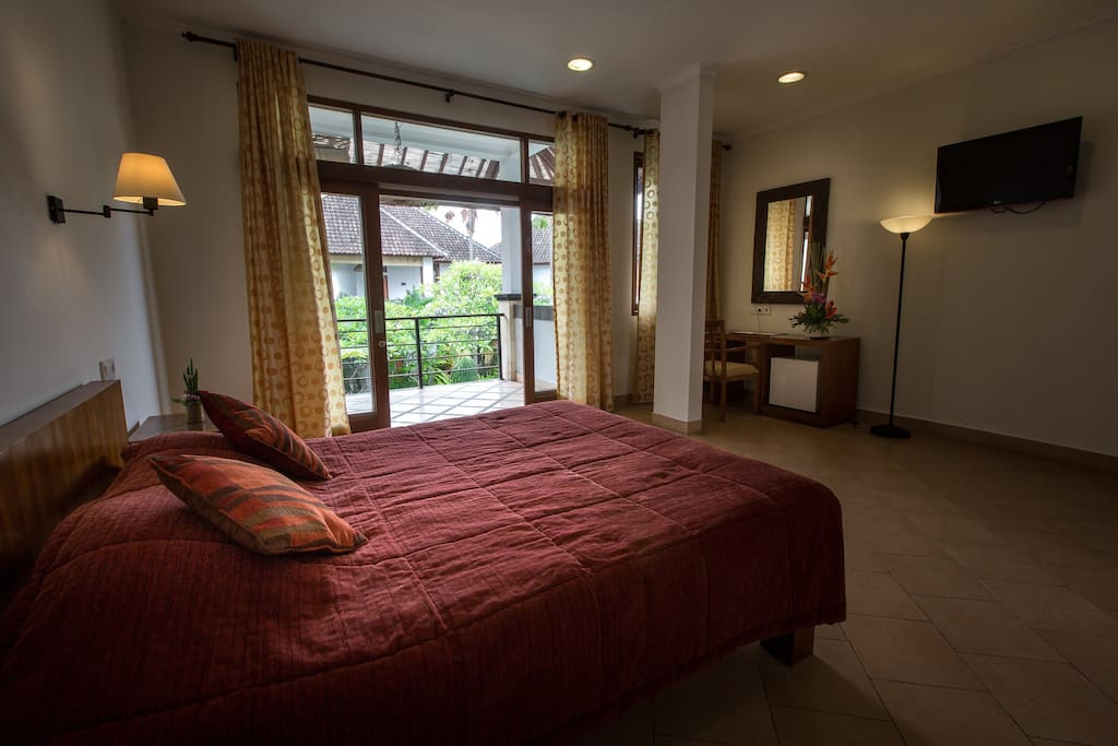Spacious and bright room offers queen size bed