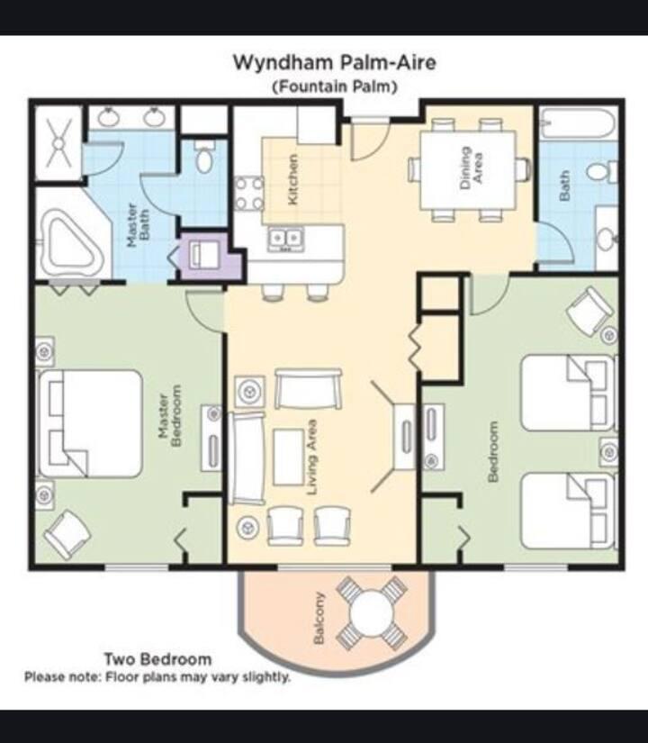 Wyndham Palm-Aire Entire 2 BR Fountain Palm  !! IB