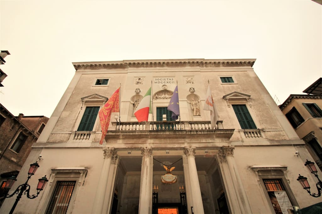 The famous Fenice theatre is just outside your apartment door step
