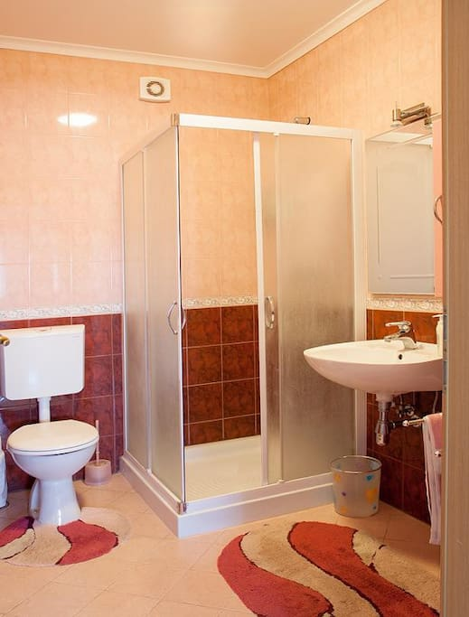 Bathroom with shower cabin