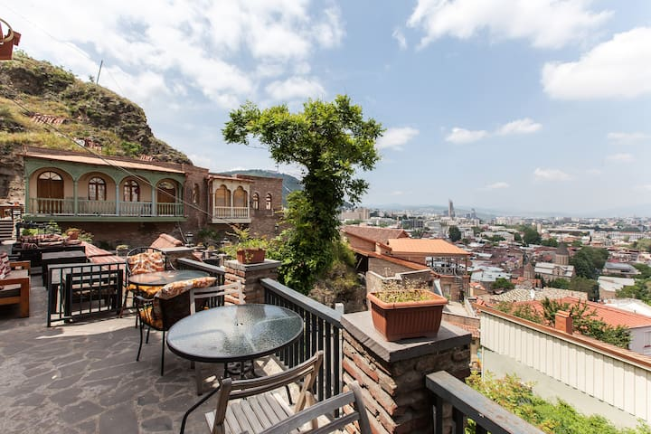 House with best view in center