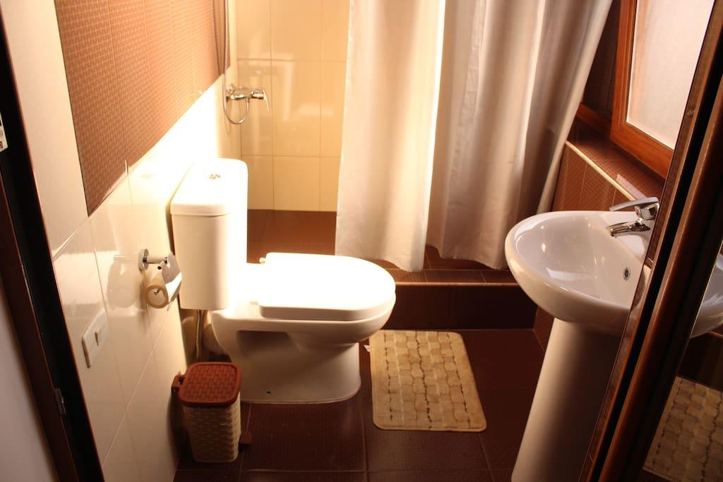 Двухместный номер:ванная комната, туалет