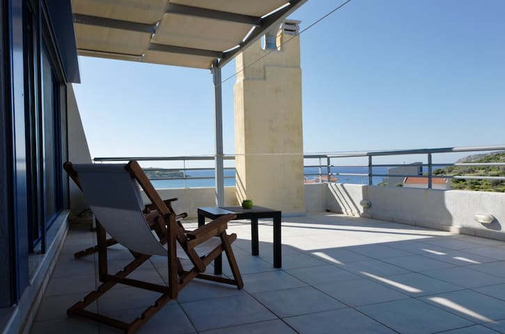 Luxurious Seaview apt. - Sounio - Apartemen