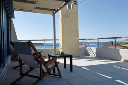 Luxurious Seaview apt. - Sounio - Leilighet