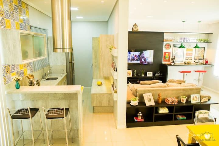 Quarto moderno em Bairro residencial (double room)