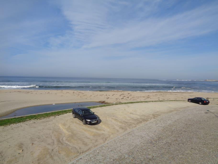 vista do terraço para a praia