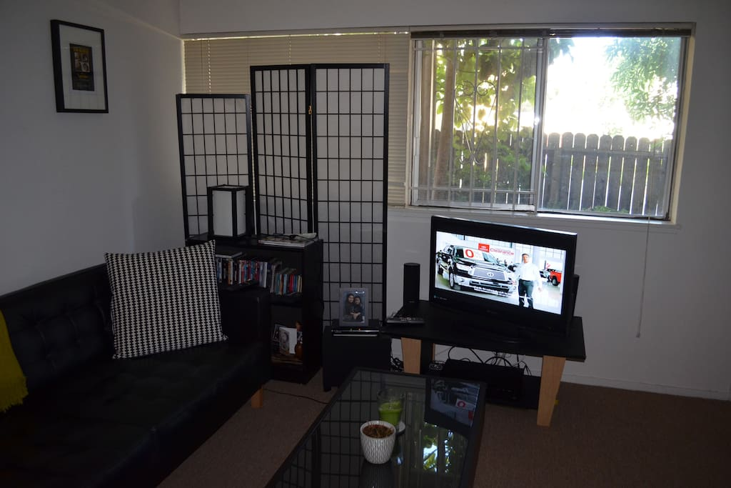 entertainment area of living room