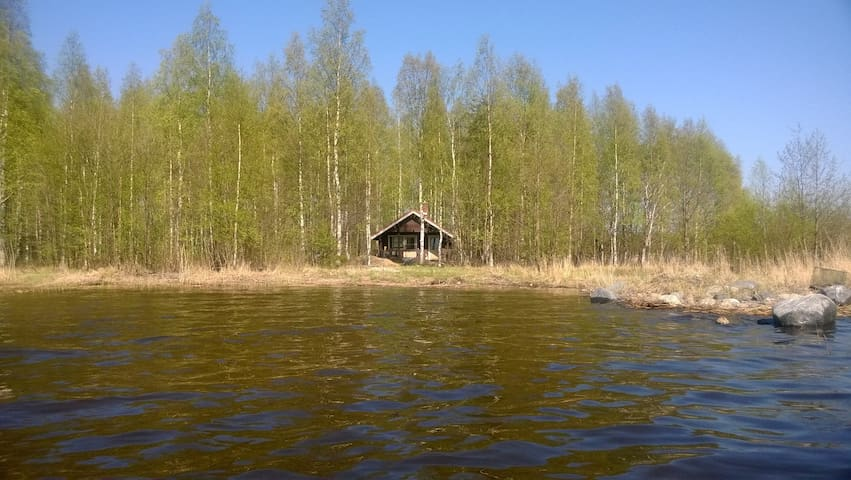 A log cabin with sauna by the lake - Polvijärvi - Chalet