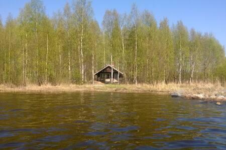 A log cabin with sauna by the lake - Polvijärvi - Chalet