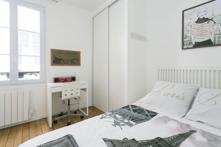 巴黎清静小屋1 室1厅,近14区Denfet- Rochreau
