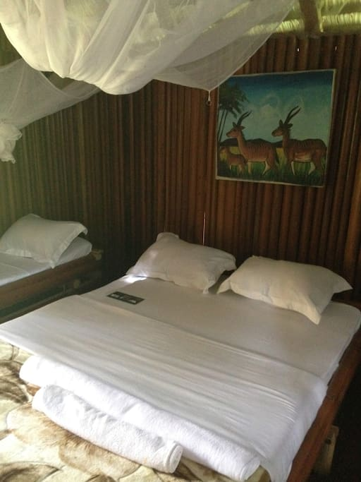 Le confort et la fraicheur dans le bungalow.