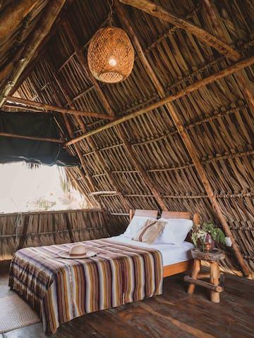 Villa Tahiti Private villa with fans  Your private beach lodge   Welcome   Las Olas Surf & Wellness  El Paredón, Guatemala