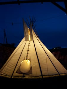 Room type: Shared room Property type: Tipi Accommodates: 5 Bedrooms: 1 Bathrooms: 1
