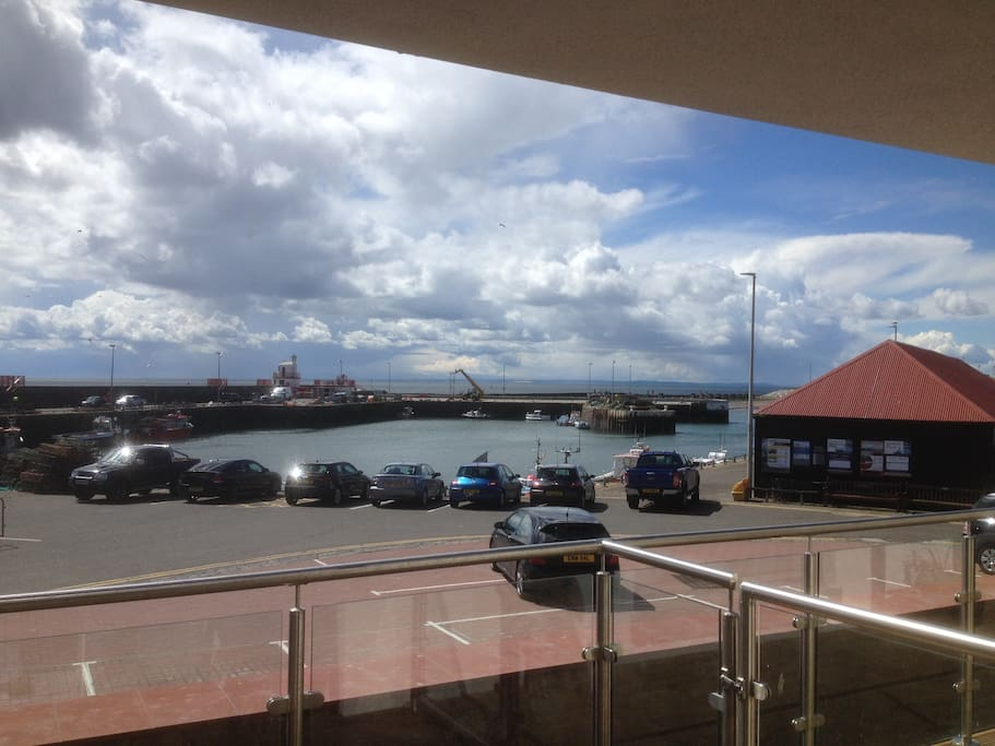 View of Arbroath harbour from the flats balcony