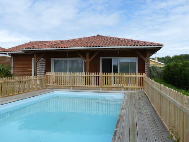 maison en bois avec piscine - Saint-Geours-de-Maremne - Hus
