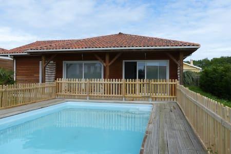 maison en bois avec piscine - Saint-Geours-de-Maremne