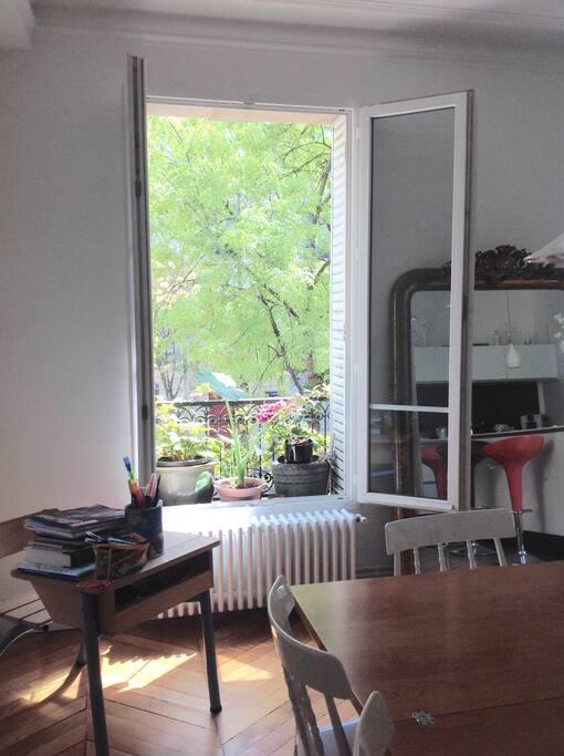 Une des fenêtres de la cuisine