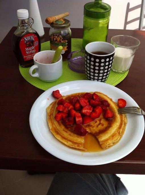 colazione pan cake alle fragole!!!!