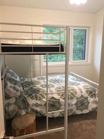 Bedroom #6 - double bed and twin bunk with space for a floor mattress