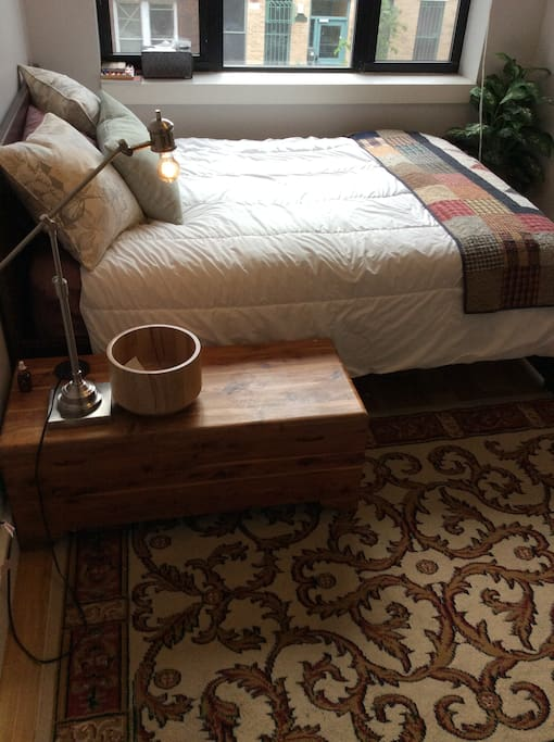 Full-size Pillow top. Extra Quilts & Mattress Cover.