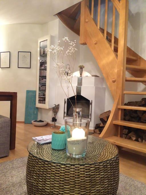Kamin im Wohnraum