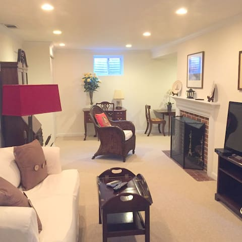 Lovely 1bdr apt, quiet street, walk/bus to metro - Bethesda - Apartment