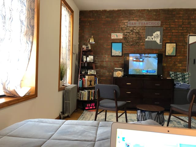 Sunny + Cozy Studio in Prospect Heights, Brooklyn