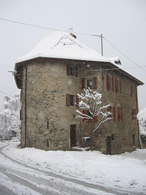Le Manoir en hiver