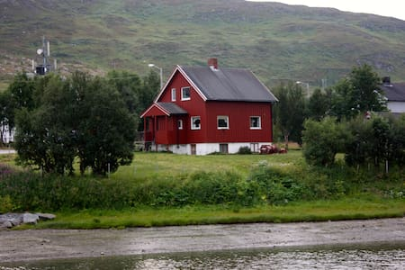 House in Kvalsund by the fjord