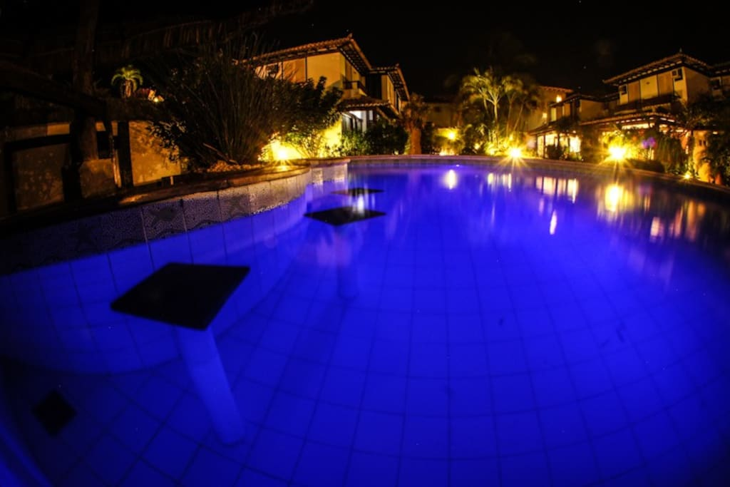 Bar molhado da piscina.