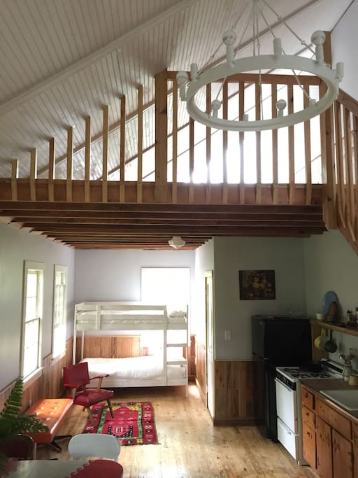 View of lofted master bedroom