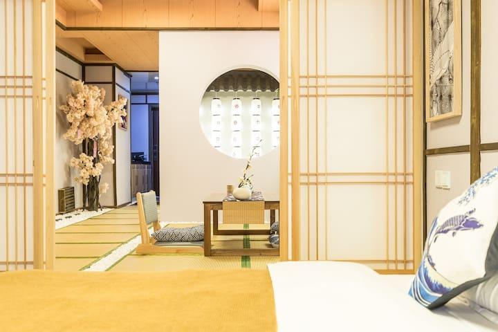 【無印】洪崖洞解放碑/精致日式和室/和服秀/1.8m大床/免费提供和服供拍摄