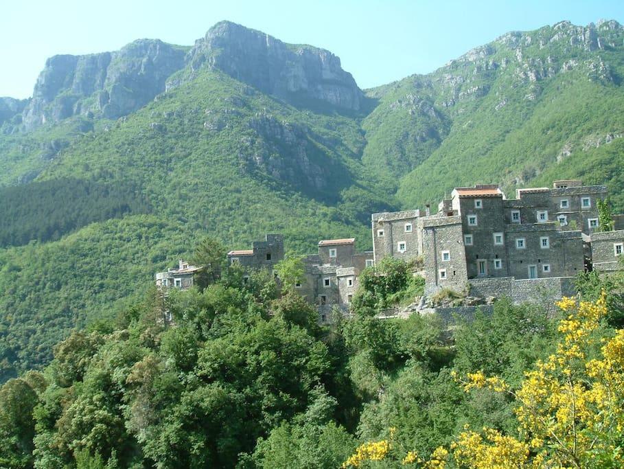 The restored medieval village of Colletta